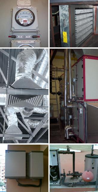 Servicios de climatización y sistemas antiestáticos